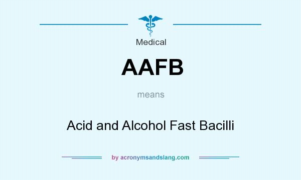 What does AAFB mean? It stands for Acid and Alcohol Fast Bacilli