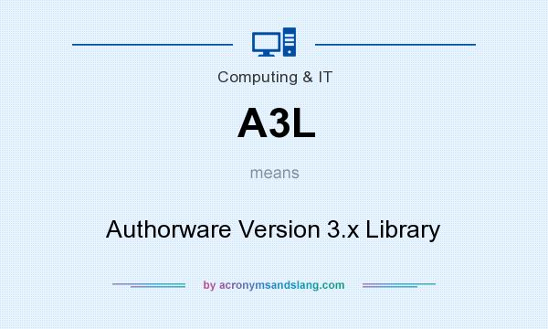 What does A3L mean? It stands for Authorware Version 3.x Library