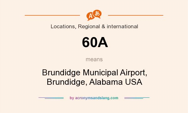 What does 60A mean? It stands for Brundidge Municipal Airport, Brundidge, Alabama USA
