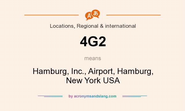 What does 4G2 mean? It stands for Hamburg, Inc., Airport, Hamburg, New York USA