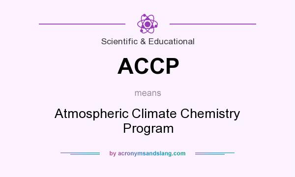 What does ACCP mean? It stands for Atmospheric Climate Chemistry Program