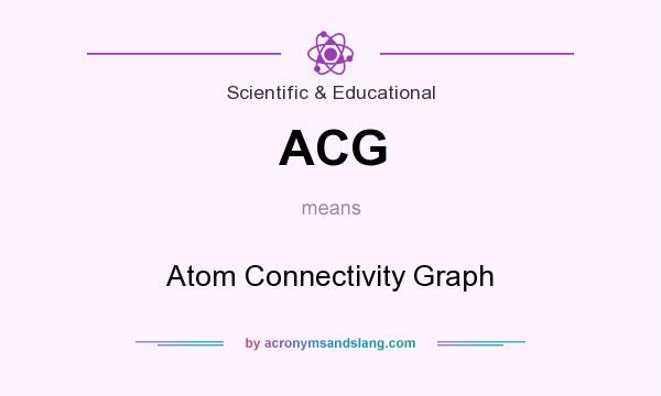 What does ACG mean? It stands for Atom Connectivity Graph