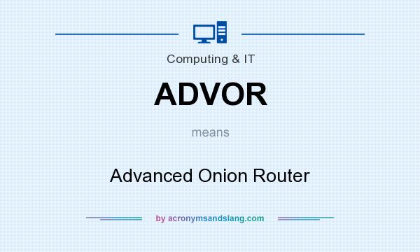 What does ADVOR mean? It stands for Advanced Onion Router