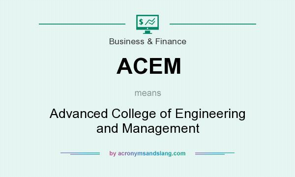 What does ACEM mean? It stands for Advanced College of Engineering and Management