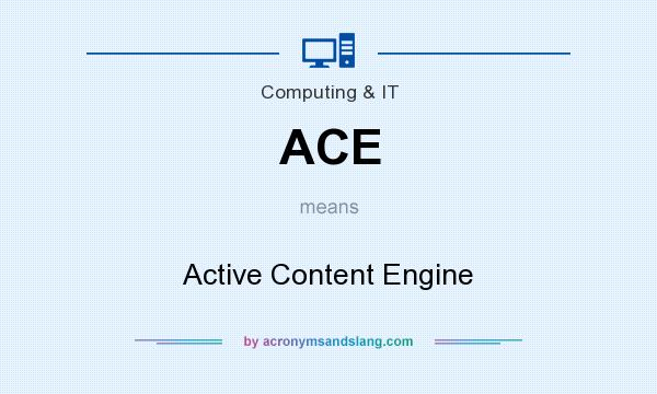 What does ACE mean? It stands for Active Content Engine
