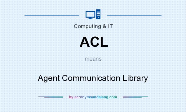 What does ACL mean? It stands for Agent Communication Library