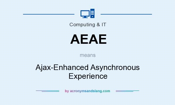 What does AEAE mean? It stands for Ajax-Enhanced Asynchronous Experience