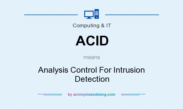 What does ACID mean? It stands for Analysis Control For Intrusion Detection