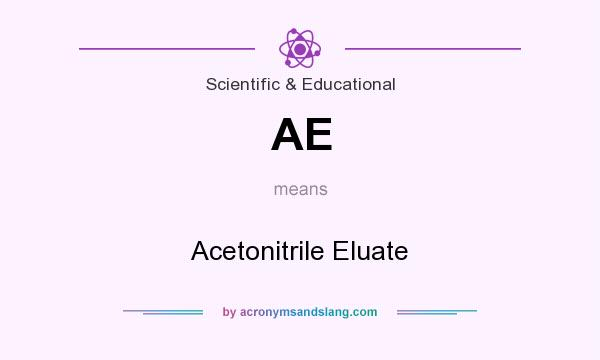 What does AE mean? It stands for Acetonitrile Eluate