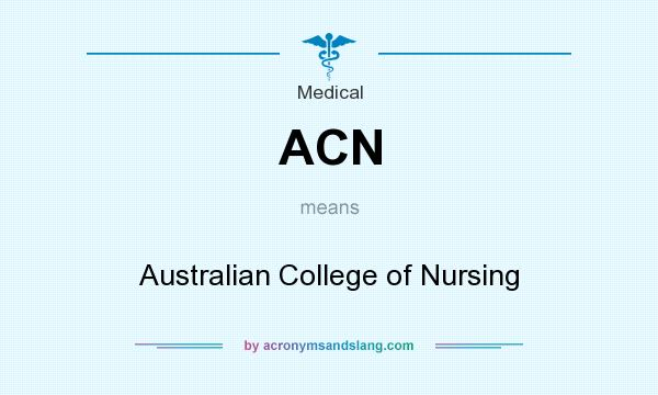 What does ACN mean? It stands for Australian College of Nursing