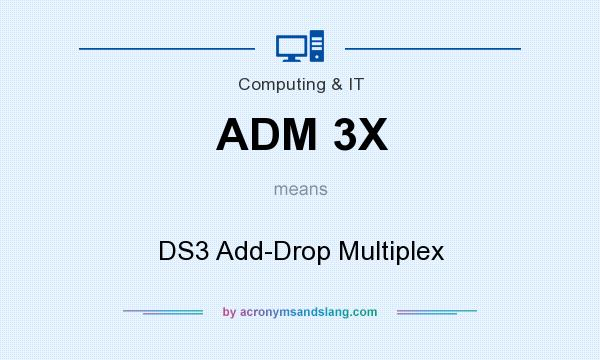 What does ADM 3X mean? It stands for DS3 Add-Drop Multiplex