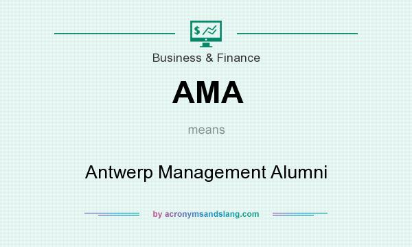 What does AMA mean? It stands for Antwerp Management Alumni