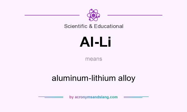 What does Al-Li mean? It stands for aluminum-lithium alloy