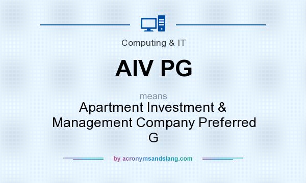 What does AIV PG mean? It stands for Apartment Investment & Management Company Preferred G