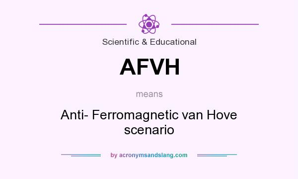 What does AFVH mean? It stands for Anti- Ferromagnetic van Hove scenario
