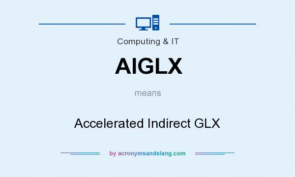 What does AIGLX mean? It stands for Accelerated Indirect GLX