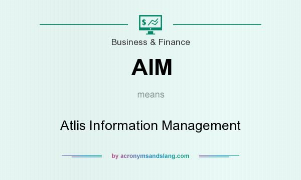 What does AIM mean? It stands for Atlis Information Management