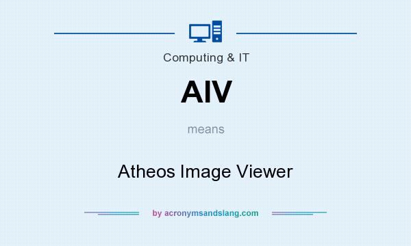 What does AIV mean? It stands for Atheos Image Viewer