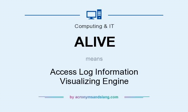 What does ALIVE mean? It stands for Access Log Information Visualizing Engine