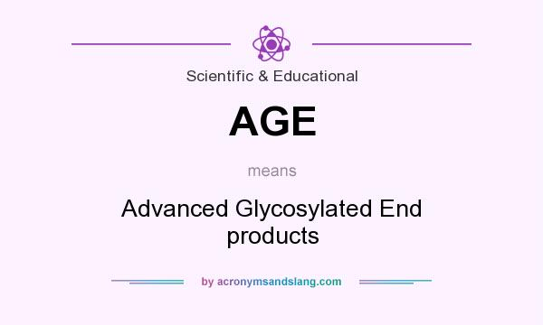 What does AGE mean? It stands for Advanced Glycosylated End products