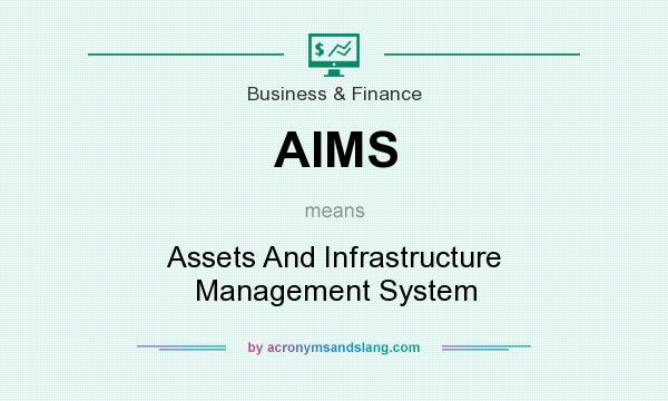 What does AIMS mean? It stands for Assets And Infrastructure Management System