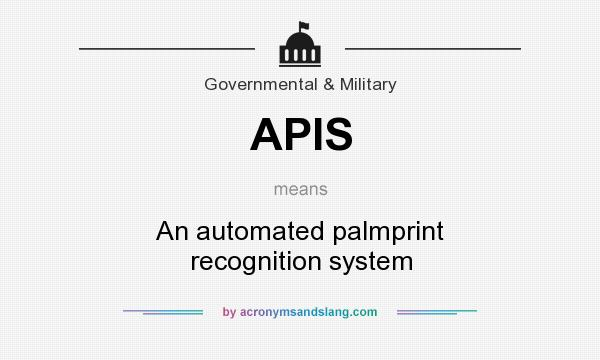 What does APIS mean? It stands for An automated palmprint recognition system