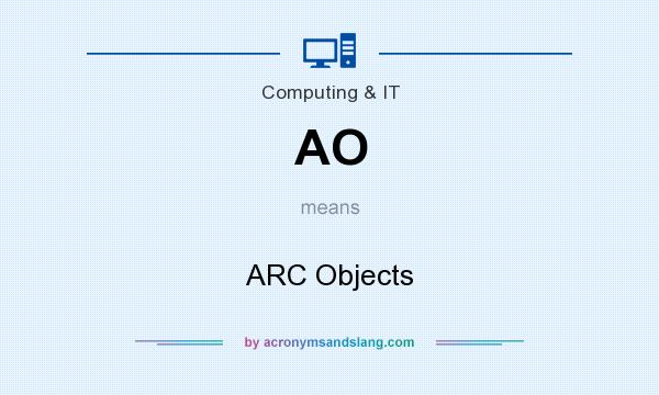 What does AO mean? It stands for ARC Objects