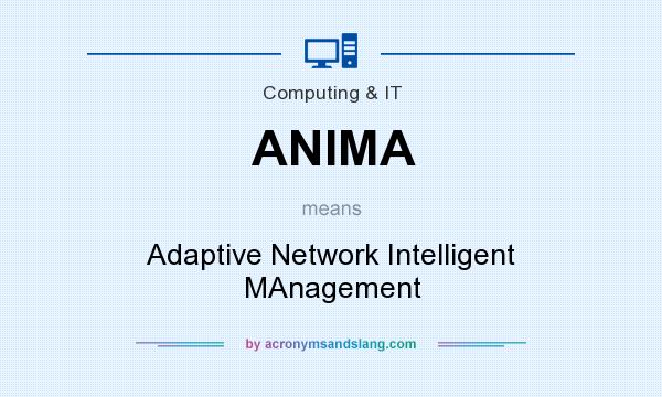 What does ANIMA mean? It stands for Adaptive Network Intelligent MAnagement