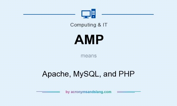 What does AMP mean? It stands for Apache, MySQL, and PHP