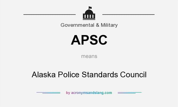 What does APSC mean? It stands for Alaska Police Standards Council