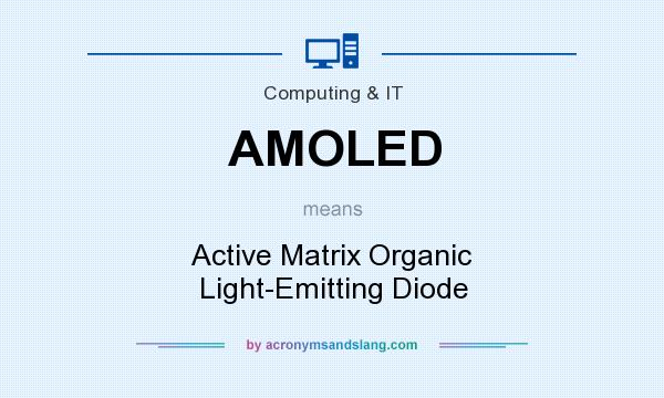 What does AMOLED mean? It stands for Active Matrix Organic Light-Emitting Diode