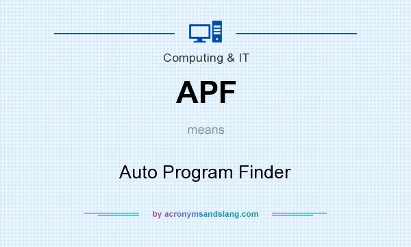 What does APF mean? It stands for Auto Program Finder