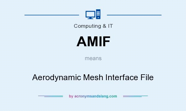 What does AMIF mean? It stands for Aerodynamic Mesh Interface File