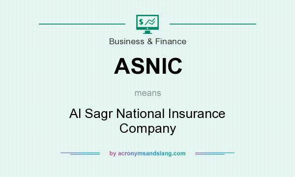 What does ASNIC mean? It stands for Al Sagr National Insurance Company