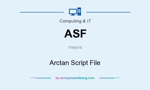 What does ASF mean? It stands for Arctan Script File