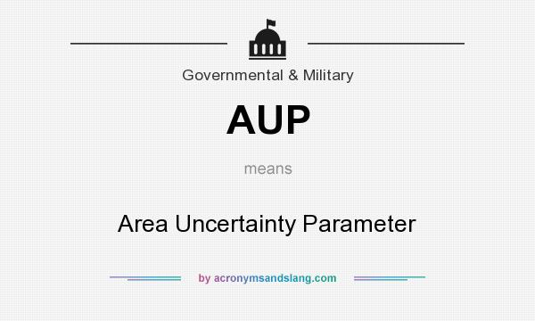 What does AUP mean? It stands for Area Uncertainty Parameter