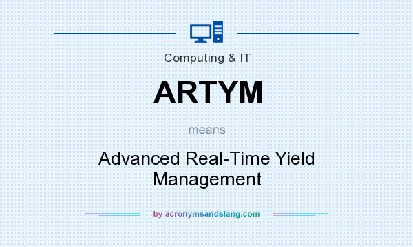 What does ARTYM mean? It stands for Advanced Real-Time Yield Management
