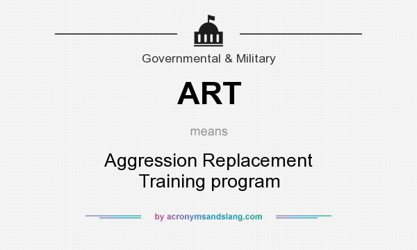 What does ART mean? It stands for Aggression Replacement Training program