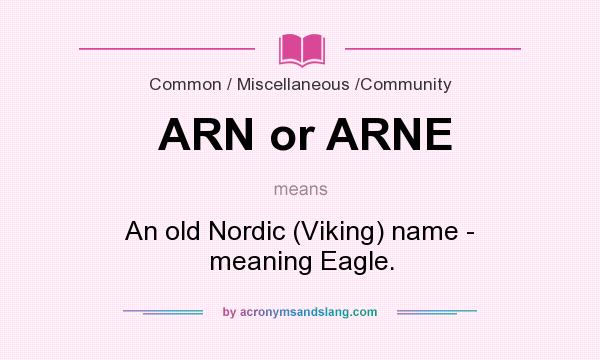 arn stands for