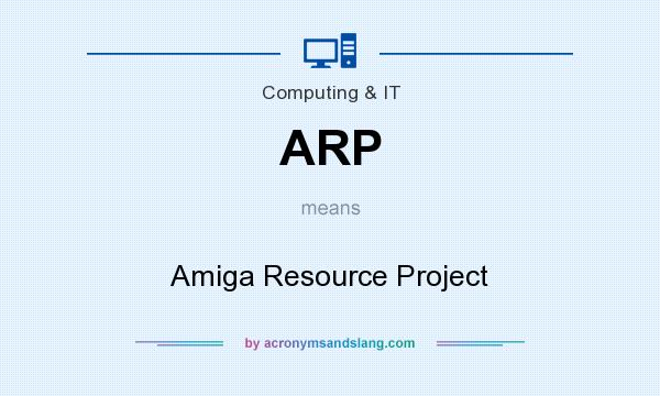 What does ARP mean? It stands for Amiga Resource Project