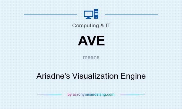 What does AVE mean? It stands for Ariadne`s Visualization Engine