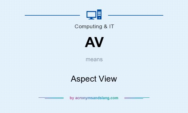 What does AV mean? It stands for Aspect View