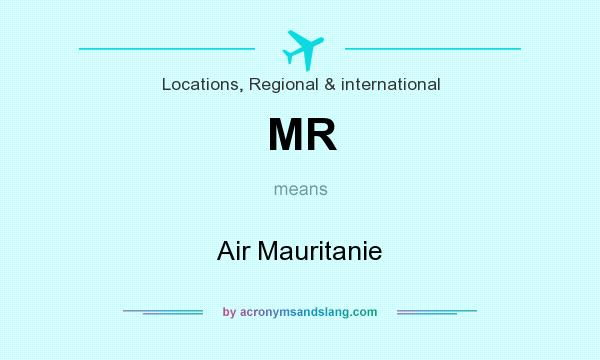 What does MR mean? It stands for Air Mauritanie