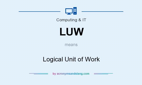 What does LUW mean? It stands for Logical Unit of Work