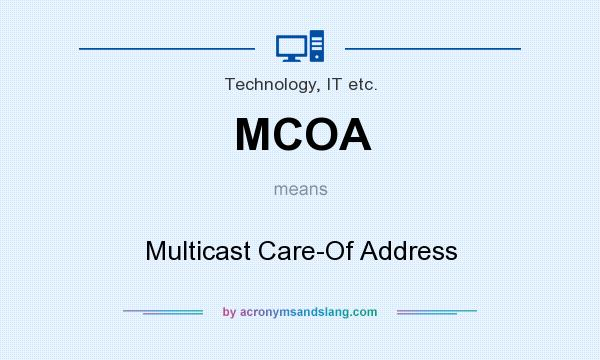 What does MCOA mean? It stands for Multicast Care-Of Address