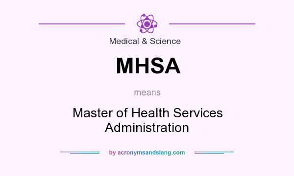 What does MHSA mean? It stands for Master of Health Services Administration
