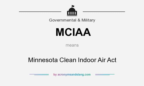 What does MCIAA mean? It stands for Minnesota Clean Indoor Air Act