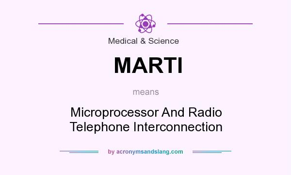 What does MARTI mean? It stands for Microprocessor And Radio Telephone Interconnection