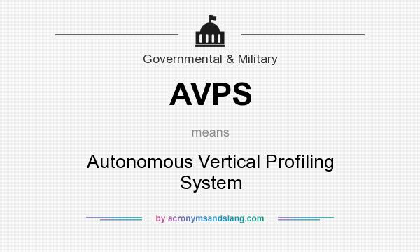 What does AVPS mean? It stands for Autonomous Vertical Profiling System