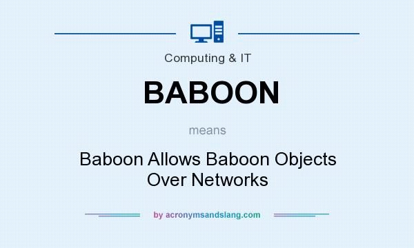 What does BABOON mean? It stands for Baboon Allows Baboon Objects Over Networks